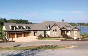 small lakefront house plans and designs best design with garage