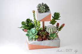 tiered diy concrete planter with copper pipe anika u0027s diy life