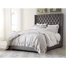 b650 77 ashley furniture queen upholstered tufted bed