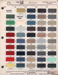 mercedes benz paint chart color reference