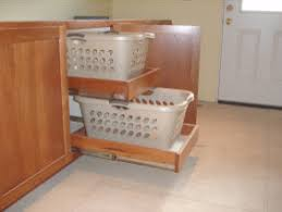 Bathroom Cabinet With Built In Laundry Hamper Pull Out Laundry Basket Design Pictures Remodel Decor And Ideas