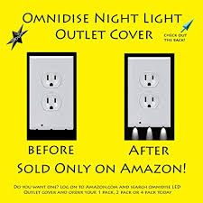 wall plate with built in night light omnidsie night light outlet cover wall plate outlet cover led