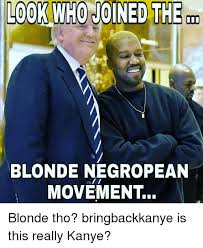 Blonde Memes - look who joined the blonde negropean movement blonde tho