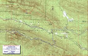 Montana Road Report Map by Ouachita Trail Maps Ouachita Mountains Ok Ar Free Detailed Topos