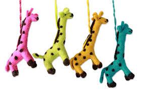 unicef uk market india handmade giraffe ornaments set of 4