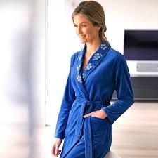 robe de chambre en courtelle femme peignoir col chale femme 11 avec blancheporte ch le courtelle con