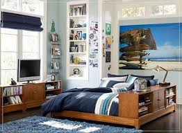Bedroom Cool Tween Boys Bedroom Ideas With Nice Wood Bed Frame In - Teenage guy bedroom design ideas