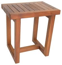 Teak Shower Bench Corner 18
