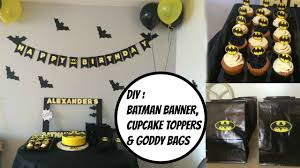 diy batman party ideas youtube