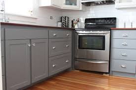 comely minimalist kitchen with gray mdf cabinets also laminate