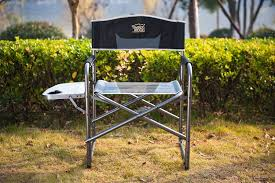 Tofasco Camping Chair by Amazon Com Timber Ridge Aluminum Portable Director U0027s Folding