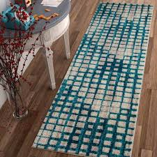 Modern Blue Rugs Ebern Designs Angie Mid Century Modern Blue Area Rug Reviews
