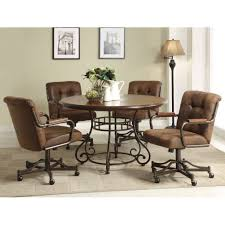 Quality Dining Room Furniture by Elegant Dining Room Chairs With Wheels Superb Casters In Quality