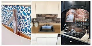 Easy Backsplash Ideas For Kitchen 15 Unique Diy Kitchen Backsplash Ideas To Personalize Your Cooking
