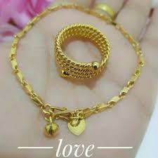 cincin lapis emas xuping perhiasan lapis emas xuping gelang cincin lapis emas 24k