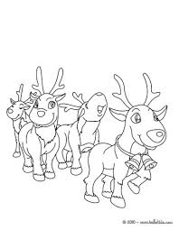 picture coloring book cartoon reindeer coloring pages