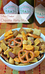 piquant chipotle party mix slow cooker chipotle party mix holiday