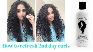 light gel for curly hair refresh second day curls with bounce curl youtube