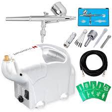 voilamart airbrush compressor 1 8hp spray gun kit 0 3mm 7cc air