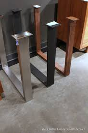 Stainless Kitchen Table by A Pair Dining Table Slab Legs Stainless Steel Flat Iron Or Rust