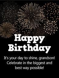 birthday fireworks cards for grandson birthday u0026 greeting cards