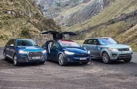 Tesla Model X Vs Audi Q7 Vs Range Rover Sport Triple Test Review