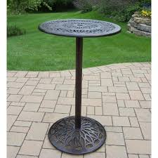 metal bar height table grace round metal bar height outdoor dining table hd3023 bt2744 ab