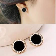 black stud earrings black stud earrings rhinestone earrings diffland