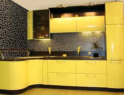 Yellow Kitchen Cabinet Furniture Awesome Black Yellow Kitchen With Black Kitchen