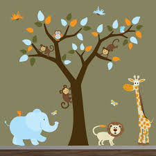 Jungle Wallpaper Kids Room by Jungle Wall Decals Theme Baby Room Nursery Image Of For Kids Haammss