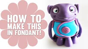 how to make oh from dreamworks home in fondant cake decorating