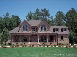 brick colonial house plans symmetry hwbdo07265 farmhouse home plans from
