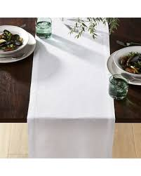 crate and barrel table runner don t miss this deal crate barrel helena white linen table runner