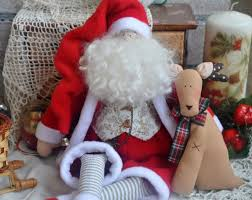 Santa Claus Dolls Handmade - santa in the style of the tilde shop on livemaster with