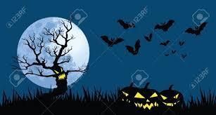 halloween illustrations illustrations for halloween theme evil tree pumpkin lanterns