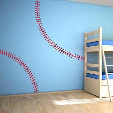 Interior Stitches Baseball Stitching Wall Decal Baseball Wall Decals Wallums