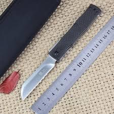 japanese folded steel kitchen knives jeepping japan razor d2 steel folding knife outdoor utility pocket