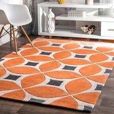 Modern Orange Rug Nuloom Handmade Geometric Triangle Orange Rug 5 X 8 5 X 8