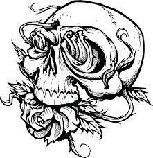 skulls and roses coloring pages skull roses coloring page sugar