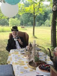 alice in wonderland mad hatter tea party 10 year wedding