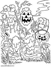 scary halloween coloring sheets pumpkin creature scary