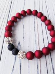 red beads bracelet images Diffuser bead bracelet red bead bracelet with lava stones jpg