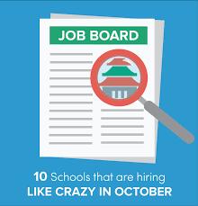 10 schools hiring teachers like this october go