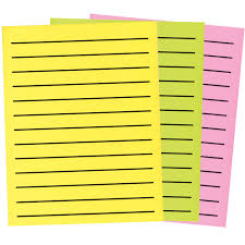 color paper maxiaids bold line paper in neon colors 1 pad of 90 30