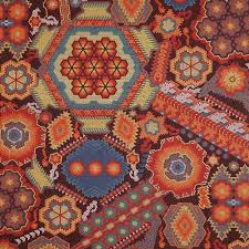 robert kaufman la plaza floral mosaic fabric emerald city