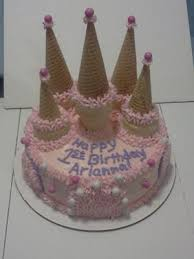 this princess castle cake was a marble cake i made 2 round cakes