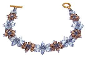 free beaded bracelet pattern images Crystal flower bracelet jpg