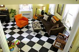 Black And White Checkered Laminate Flooring Actual Living Room Before And After Now With Furniture