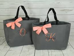 bridesmaid bags 5 personalized tote bag bridesmaid gifts set of 5