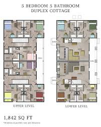 Single Story Duplex Floor Plans Contemporary House Plans Modern Free South African Bedroom
